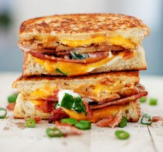 15 Grown-up Grilled Cheese Sandwich Recipes - Baked Potato Grilled Cheese Sandwich