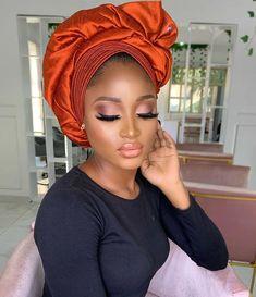 Hijab Turban Style, Mode Turban, African Hairstyles, Bride Hairstyles, African Hair Wrap, Nigerian Girls, Hair Wrap Scarf, African Fashion Ankara, Abaya Designs