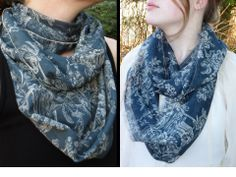 TheElegantArtist: Tutorial: Silk Infinity Scarf with Rolled Edges OR Frayed Edges