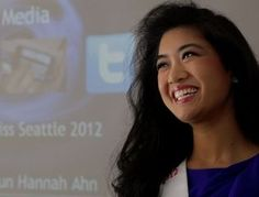 Former student Jean-Sun Hannah Ahn, the reigning Miss Seattle 2012 spoke with students about #socialmedia responsibility. #edtech