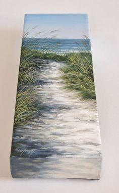 Feine Kunst Original Acrylbild von Strand-Szene