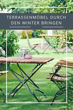 Attraktiv Mit Diesen Pflegetipps Bringt Ihr Eure Terrassenmöbel Gut Durch Den Winter!