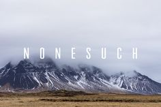 Nonesuch by Tyler Finck on @creativemarket
