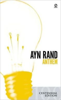 """""""Anthem"""" by Ayn Rand. I figured it was about time I read what she had to say for herself instead of summaries, but  didn't have the energy to slog through Atlas Shrugged. Didn't make me an Objectivist, but an interesting story with good warnings."""