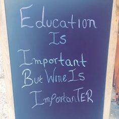 Wine is importanter