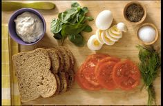 Sliced+Egg+and+Tomato+Sandwiches+with+Dill Mayonaise+-+Read+More+at+Relish.com