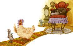 Просмотреть иллюстрацию Гадкий утенок 3 (перезагрузка)) из сообщества русскоязычных художников автора Елена Железняк в стилях: Книжная графика, нарисованная техниками: Смешанная техника.