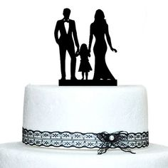 Buythrow  Family Silhouette Wedding Cake Topper with Girl, Bride and Groom Cake Topper buythrow cake topper http://www.amazon.com/dp/B00WUVSA3Q/ref=cm_sw_r_pi_dp_0Z4Wwb08YT82T