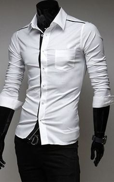 """This shirt is a """"slim fit"""". Therefore, if you purchase a M in US, buy a L and it will be a perfect fit. It may be a tiny bit short on the arms but nothing too noticeable. unique-outfit.com"""