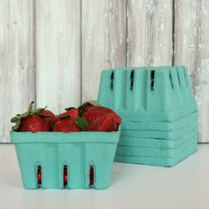 Strawberry Baskets - Quart Size - Set of 6