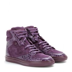 mytheresa.com - Leather and suede high-top sneakers - Sneakers - Shoes - Luxury Fashion for Women / Designer clothing, shoes, bags