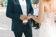 Kristina and Clayton's Epic Beach Wedding by DNA Photographers | www.onefabday.com