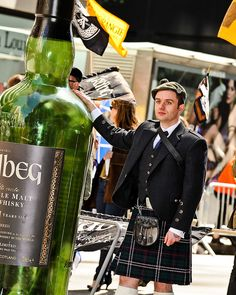 New York Tartan Day Parade 2010   that's a BIG bottle of Ardbeg    http://www.flickr.com/photos/flickr4jazz/