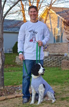 GIngybeans own Malcolm the dog on the go on a unisex, long sleeve t-shirt.