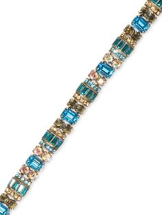Detailed Baguette and Octagon Crystal Line Bracelet in Desert Blue by Sorrelli - $265.00 (http://www.sorrelli.com/products/BBZ44ASDB)