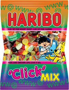 Haribo Click Mix, pussissa tai rasiassa Haribo Sweets, Danish Food, Candyland, Junk Food, New Recipes, Cravings, Sweet Tooth, Snacks, Denmark
