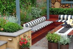 6 Tenacious Tips AND Tricks: Backyard Garden On A Budget Patio Makeover corner garden ideas with tree.Corner Garden Ideas With Tree pretty backyard garden summer.Backyard Garden Shed Projects. Backyard Seating, Small Backyard Landscaping, Garden Seating, Landscaping Ideas, Outdoor Seating, Outdoor Lounge, Terrace Garden, Hill Landscaping, Deck Seating