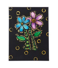 Paint Works Metallic Floral Painting, large