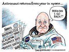 Granlund cartoon: Astronaut returns: http://www.uticaod.com/news/20160304/granlund-cartoon-astronaut-returns