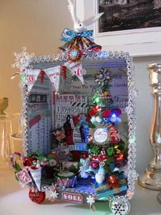 Christmas Shadow box-instructions available. HAVE to do this with the kids when school lets out!