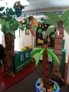 Jungle dramatic play center.