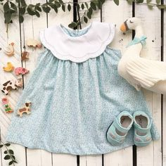 The Little Cottage  ~ Products ~ Sophie and Lucas Dress Mint ~ Shopify