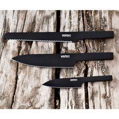 black kitchen knives