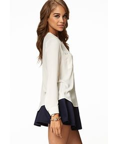 Double Pocket Button Up | FOREVER 21 - 2025100711
