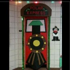 Isnt this an awesome door for the kiddos to walk through? I love this Polar Express themed classroom door. by suzette