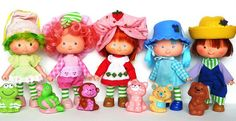 Strawberry Shortcake Characters - Loved these in thh 80s! http://www.liketotally80s.com/2015/02/strawberry-shortcake-dolls/