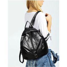 CHICAGO BLACK NŐI VALÓDI BŐRTÁSKA - TREND LUXURY Leather Overalls, Sling Backpack, Chicago, Backpacks, Luxury, Bags, Fashion, Handbags, Moda