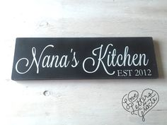 Grandma\'s Kitchen Custom Wood Sign ~ Personalized Grandma Gift ...