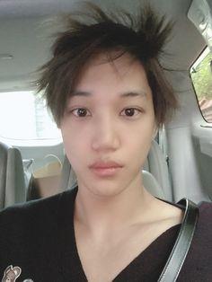 Exo Kai, Exo Xiumin, Kaisoo, Chen, Hot Korean Guys, Kim Jongin, Open My Eyes, Green Hair, K Idols