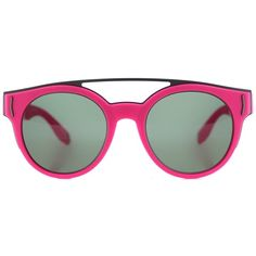 Givenchy Pink Gv7017 Round Sunglasses ($395) ❤ liked on Polyvore featuring accessories, eyewear, sunglasses, pink, logo sunglasses, round frame glasses, givenchy eyewear, green lens sunglasses and pink round sunglasses