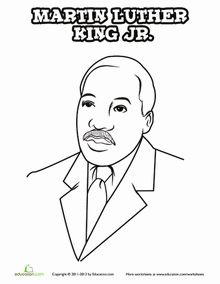 martin luther king color sheet  Martin Luther King Online