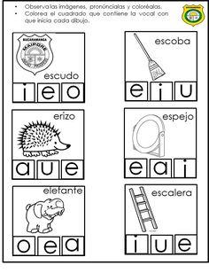 Spanish Lessons For Kids, Baby Learning, Phonics, Montessori, Worksheets, Back To School, Homeschool, Classroom, Teacher