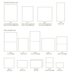 Standard Invitation Sizes Sarahs Wedding Paper Things Pinterest