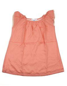 Stay Little - Oudroze jurkje met kanten mouwtjes - Kinderkleding online - Pepatino.be - Winkel in Aalst