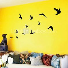 Pássaros que voam Wall Art adesivos de parede