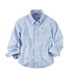 Carter's® Baby Boys' Long Sleeve Plaid Woven Shirt