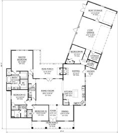 southern style house plans 2771 square foot home 1 story 4 bedroom and 3 bath 2 garage stalls by monster house plans plan - Pie Shaped Lot Home Plans