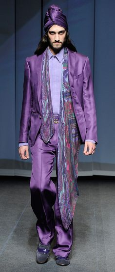 The Amazing Mr. Mike was ready for the big time.    Etro Man Spring Summer 13 Runway Show