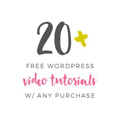 Learn WordPress free with any purchase! - Pretty Darn Cute Design