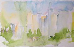 Preliminary sketches for cityscape series