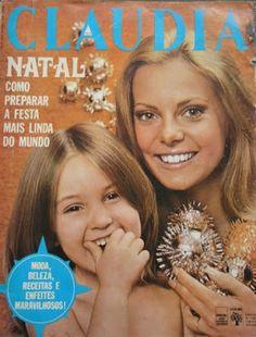 ... na capa de natal da Claudia, em 1972. Pensar em revista neste país e não pensar em Bruna Lombardi na capa é impossível, ainda mais nos anos 1970 e 1980.- Pesquisa Google