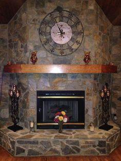 Fireplace wrought iron clock