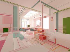 Brani & Desis Pink Lake Breath Explores Color and Geometry - Design Milk