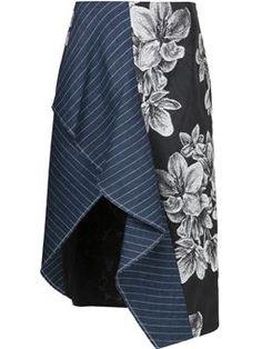 floral asymmetric skirt £487 #Farfetch #cute #3.1-Phillip-Lim