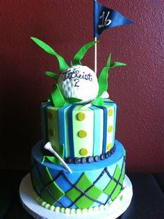 "Golf cake for   ""Jacob Aaron?"""