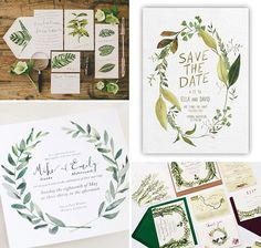 Foliage | The top 10 wedding stationery trends for 2016 | www.onefabday.com